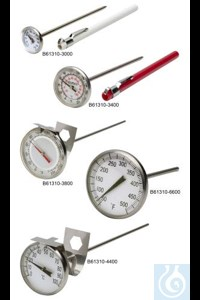 Bild von H-B DURAC Bi-Metallic Thermometer; -5 to 50C (25 to 125F), 33mm Dial
