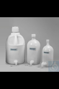 Bild von Bel-Art Polyethylene Carboys with Spigot; 4 Liters (1 Gallon)