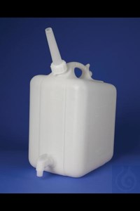 Bild von Bel-Art Polyethylene Jerrican with Spigot; 10 Liters (2.5 Gallons), Screw Cap, ¾