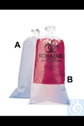 Bild von Bel-Art Clear Biohazard Disposal Bags with Warning Label; 1.5 mil Thick, 10-12