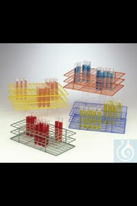 Bild von Bel-Art Poxygrid Test Tube Rack; For 16-20mm Tubes, 40 Places, Orange
