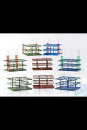 "Bild von Bel-Art Poxygrid ""Half-Size"" Test Tube Rack; For 13-16mm Tubes, 24 Places, Blue"