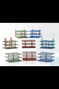 "Bild von Bel-Art Poxygrid ""Half-Size"" Test Tube Rack; For 10-13mm Tubes, 36 Places, Blue"