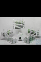 Bild von Bel-Art Stack Rack Test Tube Rack; For 10-13mm Tubes, 72 Places, Polypropylene